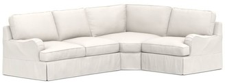 Pottery Barn PB English Arm Slipcovered 3-Piece Sectional with Wedge