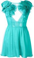 Daniele Carlotta - ruffle shoulder dress - women - Silk - 40