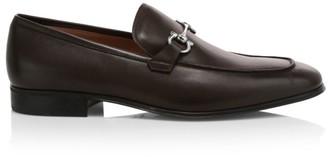 Salvatore Ferragamo Carob Simply Leather Loafers
