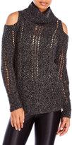 Cliche Cold Shoulder Cable Sweater
