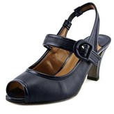 J. Renee Nevern W Peep-toe Patent Leather Slingback Heel.