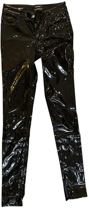 Anthony Vaccarello Black Trousers for Women