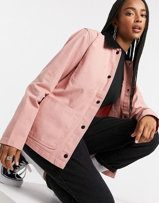 Vans Drill Chore jacket in pink