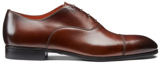 Santoni Salem Captoe Leather Oxfords