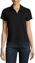 Opening Ceremony Torch Zip-Front Polo Shirt, Black