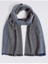 M&S Collection Pure Cotton Herringbone Scarf
