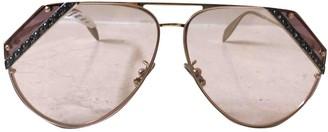 Alexander McQueen Gold Metal Sunglasses