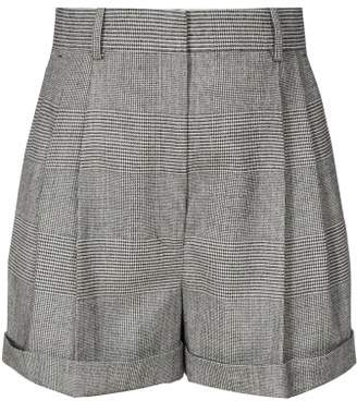 Altuzarra Chaz Prince Of Wales-checked Shorts - Womens - Grey Multi