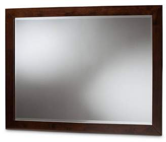 Baxton Studio Butler Dresser Mirror Dark Brown