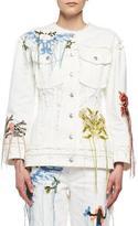 Alexander McQueen Needlepoint Embroidered Denim Jacket