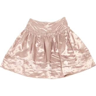 Burberry Pink Linen Skirts