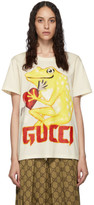 Gucci Off-White Frog Heart T-Shirt