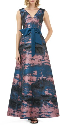 Kay Unger Valentin Fit & Flare Evening Gown
