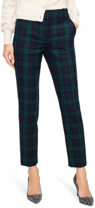 J.Crew Cameron Black Watch Slim Crop Pants