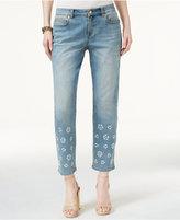 MICHAEL Michael Kors Embellished Boyfriend Jeans