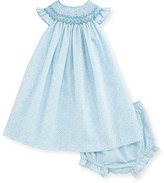 Luli & Me Sleeveless Smocked Bishop Dress, Turquoise, Size 3-24 Months