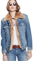 Mother Furry Drifter Cat Nip And Hockey Sticks Denim Jacket