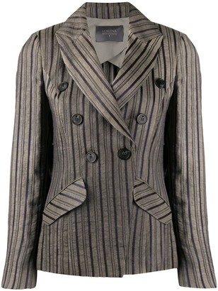 Lorena Antoniazzi Striped Double-Breasted Blazer