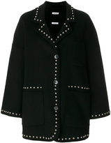 P.A.R.O.S.H. micro studded single breasted coat