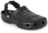 Crocs Black Branded Rip Tape Clogs