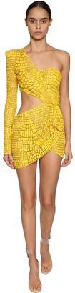 Julien Macdonald Cut Out Bead Embellished Mini Dress