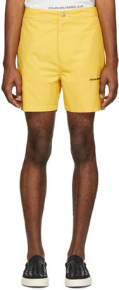 Stolen Girlfriends Club Yellow Subtle Shorts