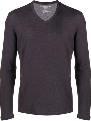 Majestic Filatures v-neck fine-knit jumper