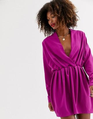 UNIQUE21 Unqiue21 drape sleeve dress-Pink