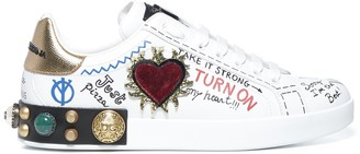 Dolce & Gabbana Portofino Embellished Sneakers