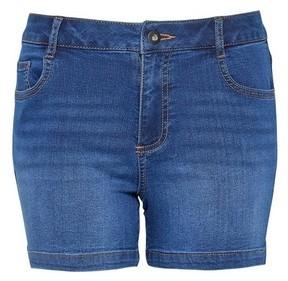 Dorothy Perkins Womens Dp Petite Blue Midwash Denim Shorts, Blue