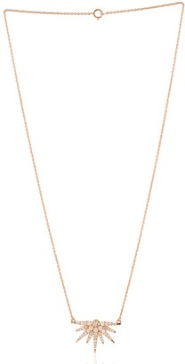 Artisan 18Kt Rose Gold Natural Diamond Necklace Jewelry Gift For Her
