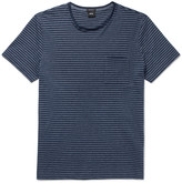 Hugo Boss - Tiburt Striped Cotton-blend Jersey T-shirt