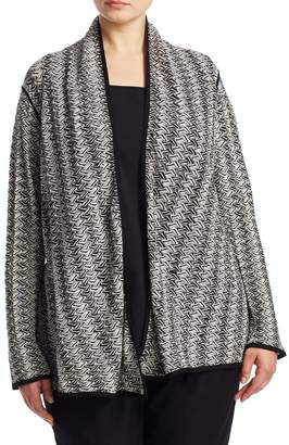 Nic + Zoe, Plus Size Twinkle 4-Way Cardigan