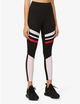 Lorna Jane High Contrast Core high-rise stretch-jersey leggings