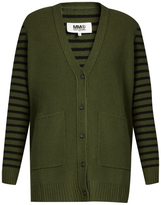 Maison Margiela Stripe-back wool cardigan