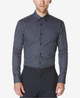 Perry Ellis Men's Big & Tall Long-Sleeve Geometric-Print Shirt