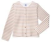 Petit Bateau Girls striped cardigan