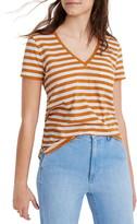 Madewell Richie Stripe Whisper Cotton V-Neck Pocket T-Shirt