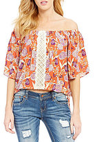 Miss Me Off-The-Shoulder Floral-Printed Blouse