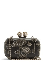 Alexander McQueen Queen and King skull embellished clutch