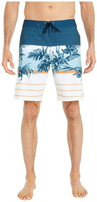 O'Neill Hyperfreak Heist Print Boardshorts (Midnight) Men's Swimwear