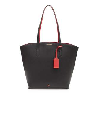 Lulu Guinness Agnes Leather Tote Bag Colour: BLACK, Size: One Size