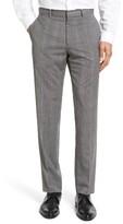 Theory Men's Marlo Kinver Flat Front Windowpane Wool Trousers