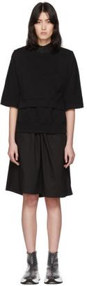 MM6 MAISON MARGIELA Black V-Bib Sweatshirt