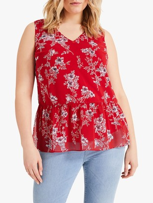 Studio 8 Henrietta Floral Cut Out Back Blouse, Red