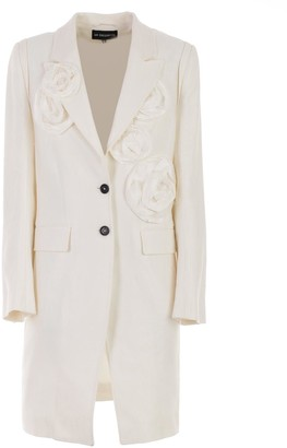 Ann Demeulemeester Flower Applique Coat