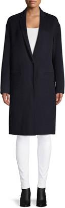 Vince Notch-Lapel Wool-Blend Coat