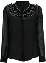 Moschino sheer buttoned up blouse