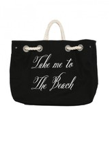 Wildfox Couture Take Me to the Beach Bag in Black