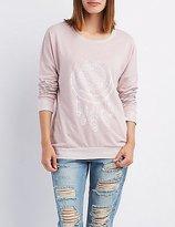 Charlotte Russe Graphic Crew Neck Sweatshirt